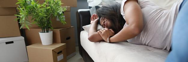Emménagement dans un nouveau portrait de sommeil