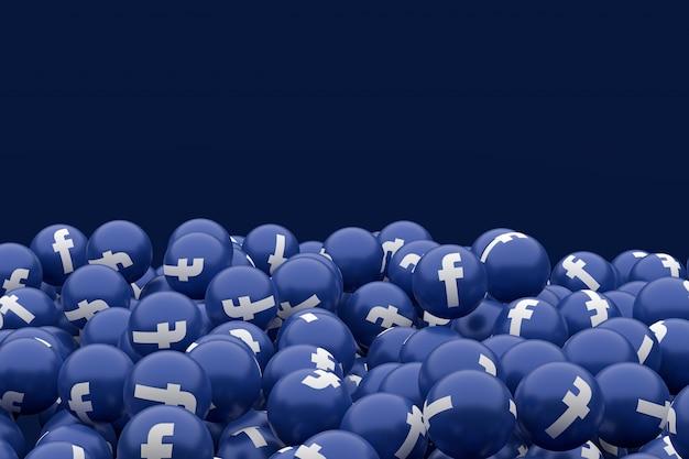 Emoji icône facebook, symbole de ballon de médias sociaux avec motif d'icônes