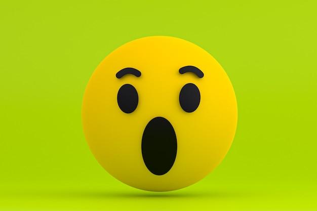 Emoji de réactions facebook, symbole de ballon de médias sociaux avec motif d'icônes facebook