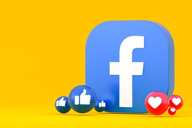 Emoji De Réactions Facebook, Symbole De Ballon De Médias Sociaux Avec Motif D'icônes Facebook Photo Premium