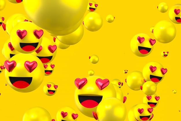 Emojis cœur de réactions facebook