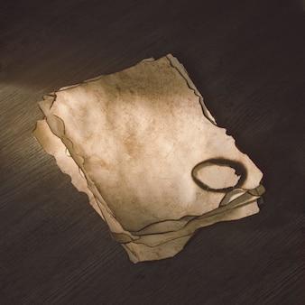 Empiler les feuilles de papier brûlées