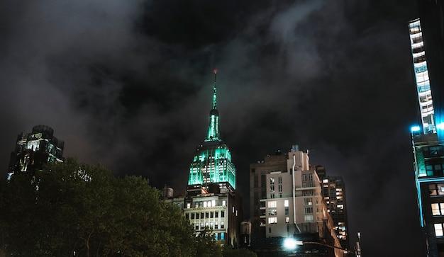 Empire state building la nuit