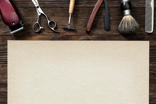 Emplois de papier de coiffeur vintage et concept de carrière