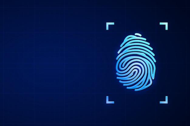 Empreinte numérique pour le concept de réseau et de sécurité