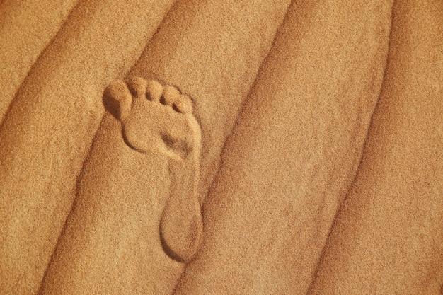 Empreinte sur le sable du désert