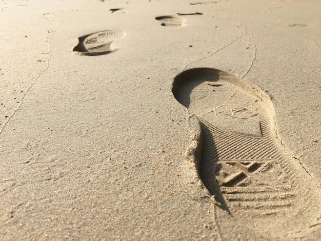 Empreinte sur le sable