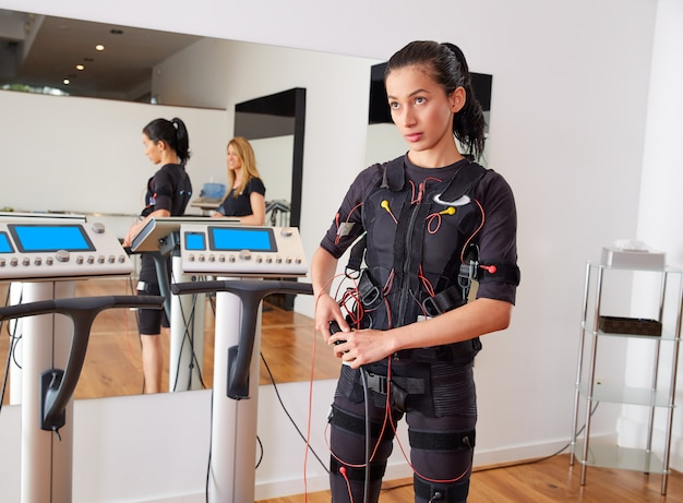 Ems électro stimulation costume femme