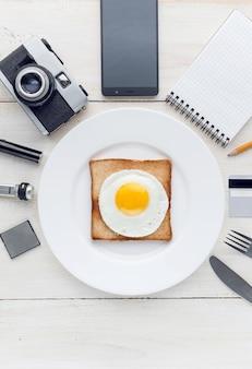 Encore petit déjeuner hipster perfectionniste