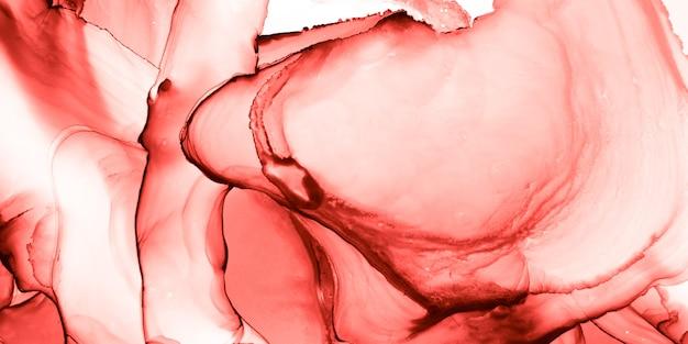 Encre à alcool romantique. design minimaliste bourgogne. illustration numérique. tissu contemporain rouge. effet floral rose. flux de corail vivant. décoration abstraite de rose. encre à l'alcool romantique pastel.