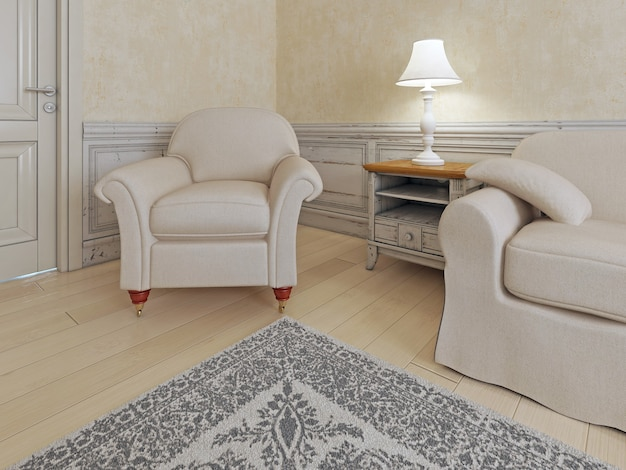 Endroit confortable dans une maison de luxe.