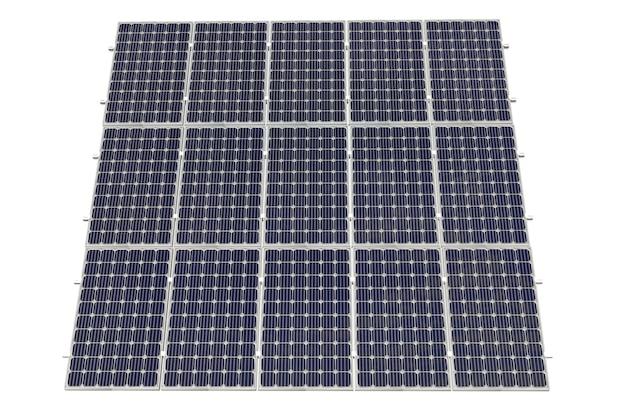 Énergie propre des centrales solaires.