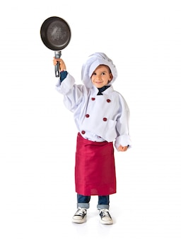 Enfant habillé en chef