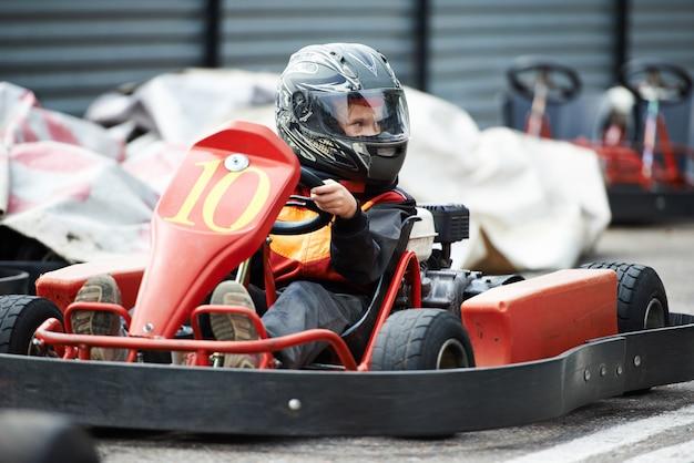 Enfants karting