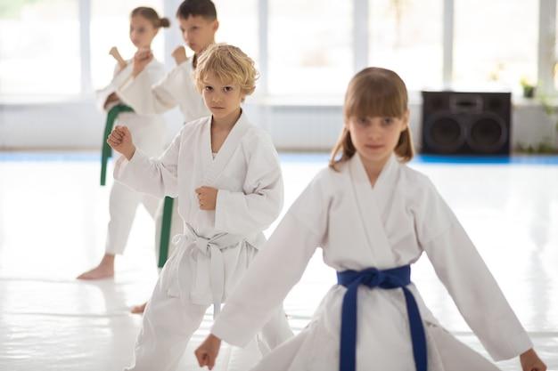Les enfants se sentent impliqués dans la pratique des arts martiaux