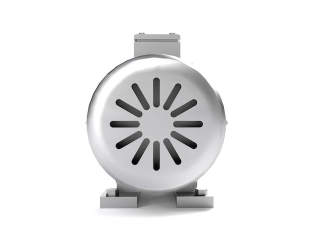 Engrenages blancs sur fond gris. rendu 3d pour la conception