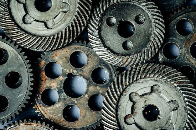 Engrenages d'une vieille machine industrielle