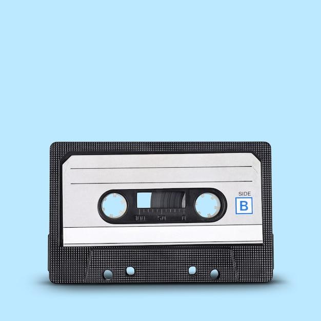 Enregistrement audio. vieille cassette compacte de bande