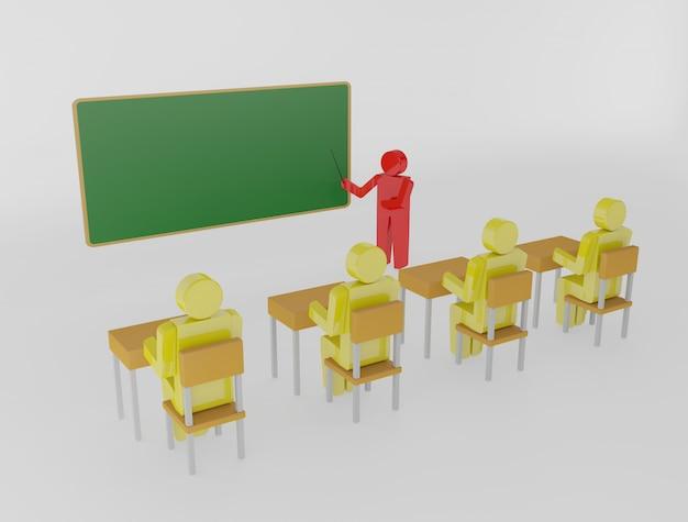 Enseignant avec un pointeur au tableau