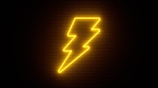 Enseigne au néon sur un mur de briques
