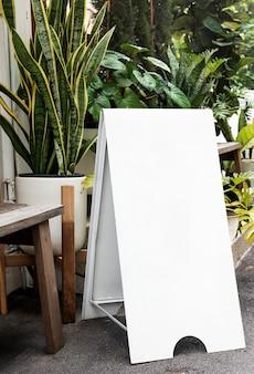 Enseigne pliable à cadre en a pour cafés et restaurants