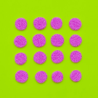 Ensemble de bonbons. conception d'art minimal de bonbons