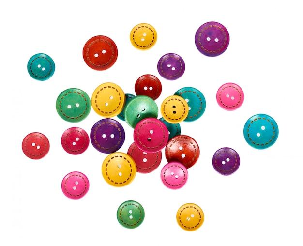 Ensemble de boutons de couture colorés, accessoire de décoration.