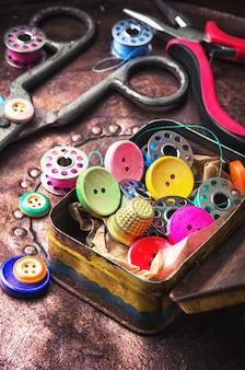 Ensemble de boutons de couture