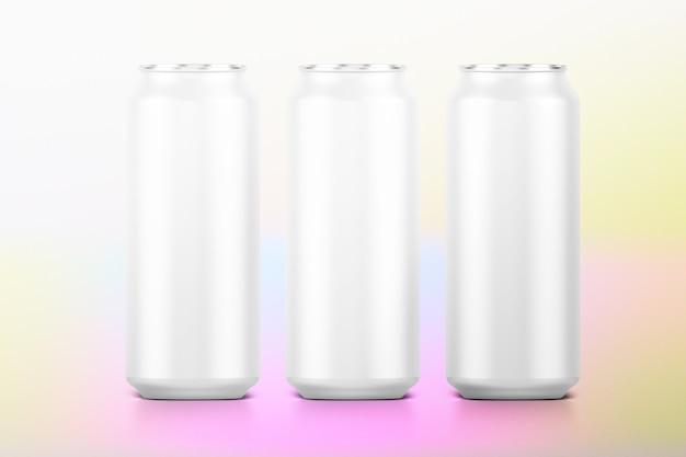 Ensemble de canettes de boisson, emballage en aluminium vierge