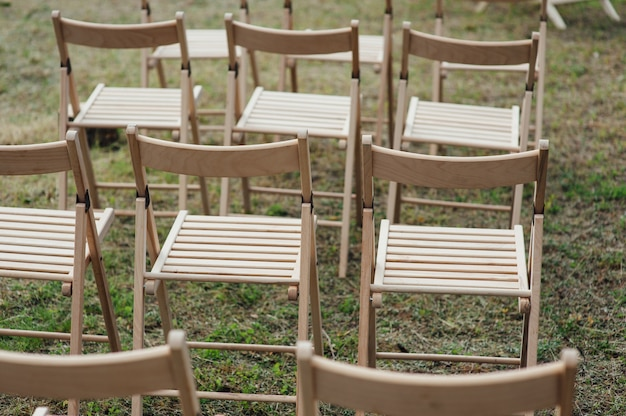 Ensemble de chaise pour mariage ou autre événement traiteur.