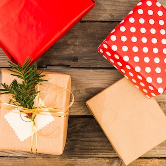 Ensemble de coffrets cadeaux en papier kraft