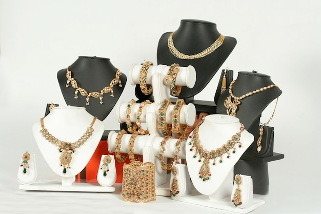 Ensemble collier indien en or antique