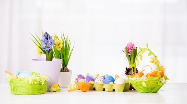 L'ensemble des décorations de pâques