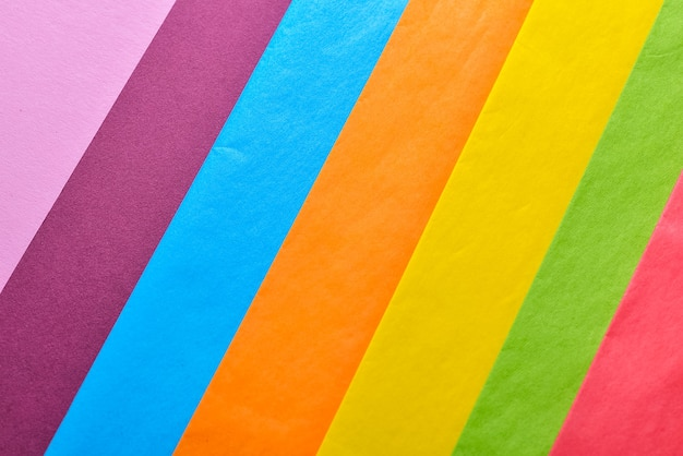 Ensemble de différentes feuilles de papier de soie, gros plan