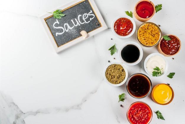 Ensemble de différentes sauces