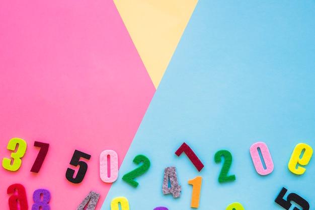 Ensemble de différents nombres
