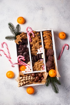 Ensemble de divers biscuits de noël