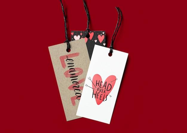 Ensemble d'étiquettes de saint valentin mignon