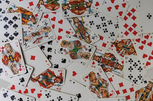 Ensemble de fond de carte à jouer.
