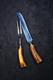 Ensemble fourchette et couteau vintage