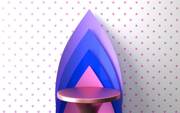 Ensemble de groupe de formes géométriques abstraites colorées, fond abstrait minimal, rendu 3d, scène avec des formes géométriques