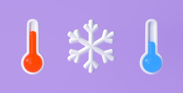 Ensemble d'icônes météo 3d pour l'application de conception de prévisions et le web. illustration de rendu 3d.