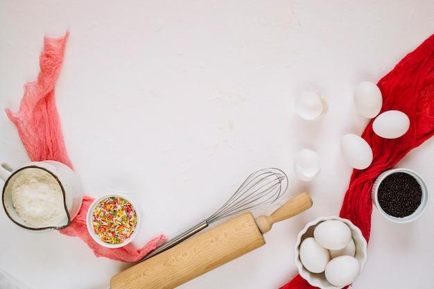 Ensemble d'ingrédients et ustensiles de cuisine