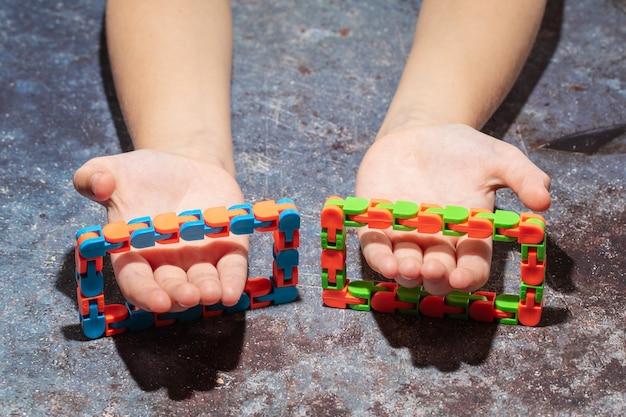 Ensemble de jouets sensoriels hopoter, soulage le stress et l'anxiété fidget toy chaîne de vélo squeeze toys stress soulager le jouet pour adultes et enfants