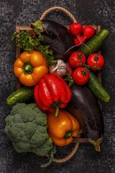 Ensemble de légumes pour la cuisson