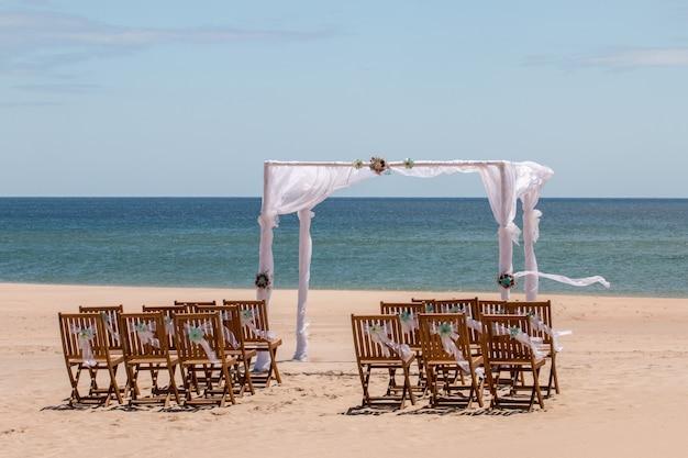 Ensemble de mariage de plage