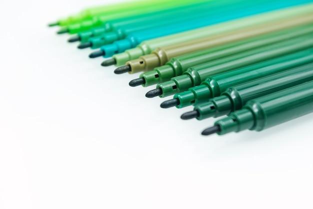 Ensemble de marqueur de couleur verte