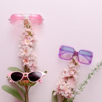 Ensemble de mélange de lunettes de soleil femme élégante. accessoire tendance à la mode