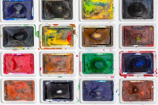 Ensemble de peintures aquarelles
