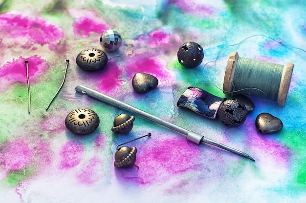 Ensemble de perles lumineuses